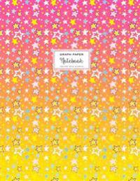 Graph Paper Notebook - Square Grid Journal - Pink Star Shower: Extra Large 8.5 X 11, 110 Pages, Soft Cover