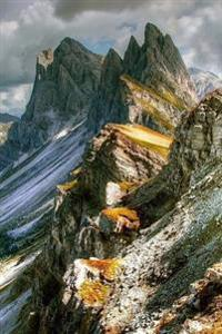 View of the Dolomites Mountains in Italy Travel Adventure Journal: 150 Page Lined Notebook/Diary