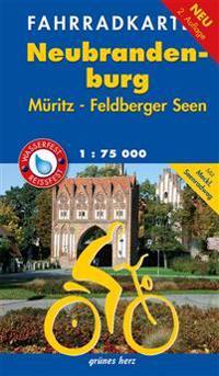 Fahrradkarte Neubrandenburg, Müritz, Feldberger Seen 1:75.000