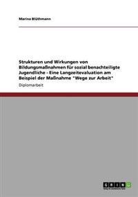 Strukturen Und Wirkungen Von Bildungsmanahmen Fur Sozial Benachteiligte Jugendliche - Eine Langzeitevaluation Am Beispiel Der Manahme Wege Zur Arbeit