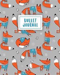Bullet Journal: Fox Journal 150 Dot Grid Pages (Size 8x10 Inches) with Bullet Journal Sample Ideas