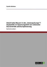 """Gleich Hohe Mauern in Der """"Festung Europa""""? Asylpolitik Im Spannungsfeld Von Nationaler Souveranitat Und Europaisierung"""