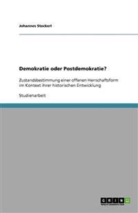 Demokratie Oder Postdemokratie?