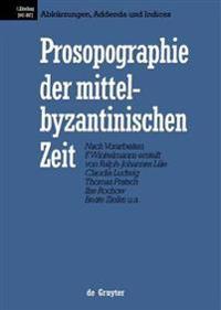 Prosopographie Der Mittelbyzantinischen Zeit