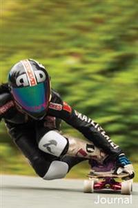 Journal: Female Racer: Longboard Racer Female Blank Lined Journal
