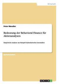 Bedeutung Der Behavioral Finance Fur Aktienanalysen