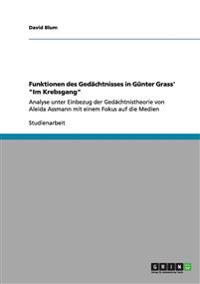 """Funktionen Des Gedachtnisses in Gunter Grass' """"Im Krebsgang"""""""