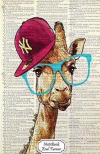 Notebook: Journal Dot-Grid, Graph, Lined, Blank No Lined: Geekery Giraffe with Cap Hat: Small Pocket Notebook Journal Diary, 120