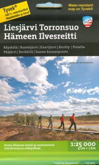 Liesjärvi Torronsuo Hämeen ilvesreitti retkeilykartta 1:25 000