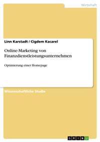 Online-Marketing Von Finanzdienstleistungsunternehmen
