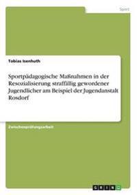 Sportpadagogische Manahmen in Der Resozialisierung Straffallig Gewordener Jugendlicher Am Beispiel Der Jugendanstalt Rosdorf