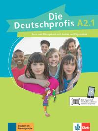 Die Deutschprofis A2.1. Kurs- und Übungsbuch + Audios und Clips online