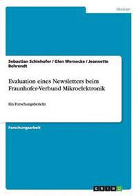 Evaluation Eines Newsletters Beim Fraunhofer-Verbund Mikroelektronik