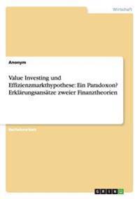 Value Investing Und Effizienzmarkthypothese