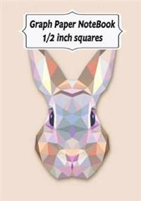 Graph Paper Notebook: Rabbit Design: Graph Paper, 1/2 Squares. 120 Pages of 7 X 10