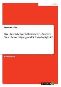 """Das """"petersberger Abkommen - Start Zu Gleichberechtigung Und Selbststandigkeit?"""