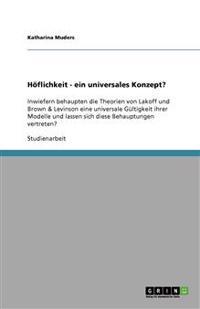 Hoflichkeit - Ein Universales Konzept?