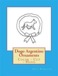 Dogo Argentino Ornaments: Color - Cut - Hang