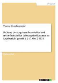 Prufung Der Angaben Finanzieller Und Nicht-Finanzieller Leistungsindikatoren Im Lagebericht Gema 317 ABS. 2 Hgb