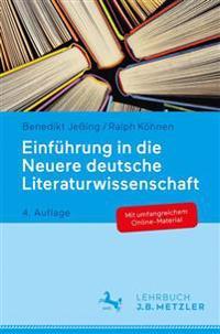 Einfuhrung in Die Neuere Deutsche Literaturwissenschaft