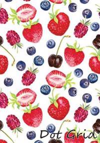 Dot Grid Notebook: Berry Wallpaper.1 110 Dot Grid Pages, 7 X 10