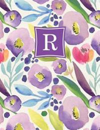 Personalized Posh: Watercolor Bloom (R) 2018 Monthly/Weekly Planning Calendar