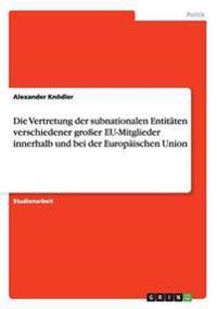 Die Vertretung Der Subnationalen Entitaten Verschiedener Groer Eu-Mitglieder Innerhalb Und Bei Der Europaischen Union