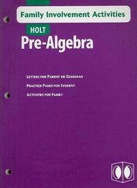 Holt Pre-Algebra Family Involvement Activities