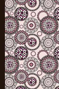 Journal: Animal Print Mandala (Rose and Pink) 6x9 - Dot Journal - Journal with Dotted Pages