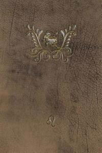 Monogram Leo Notebook: Blank Diary Journal Log Notebook
