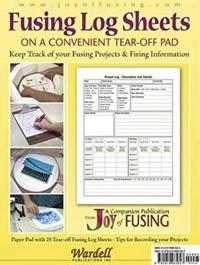 Fusing log sheets - 25 pre-printed sheets on a convenient tear-off pad