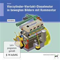 Lehrmaterial Vierzylinder-Viertakt-Dieselmotor in bewegten Bildern mit Kommentar