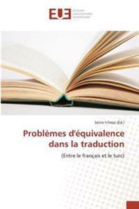 Problèmes d'équivalence dans la traduction
