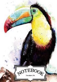 Notebook: Toco Toucan Bird: Notebook Journal Diary, 120 Lined Pages, 7 X 10