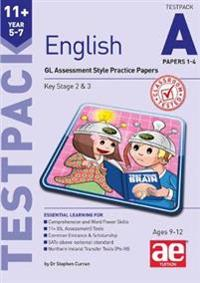 11+ english year 5-7 testpack a papers 1-4 - gl assessment style practice p