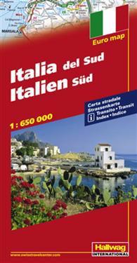 Rand McNally Hallwag South Italy Regional Road Map