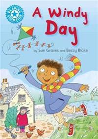 Reading champion: a windy day - independent reading blue 4