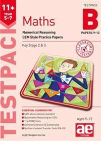11+ Maths Year 5-7 Testpack B Papers 9-12