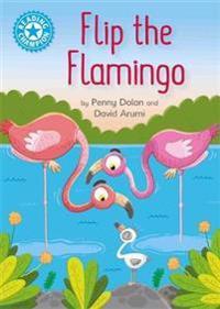 Reading champion: flip the flamingo - independent reading blue 4