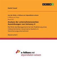 Analyse Der Unternehmensweiten Auswirkungen Von Solvency II