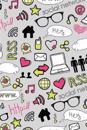 Lizzie Timewarp Notebook - Gray & Pink Doodle