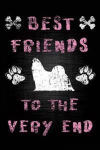 Best Friends to the Very End: Bichon Shih Tzu, Dog Memory Book, Pet Loss Grief Books, 6x9, 108 Lined Pages (Dog Journal)
