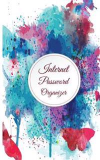 Internet Password Organizer: Watercolor Butterfly (Discreet Password Journal) 5x8inch 110pages Password Keeper Password Journal
