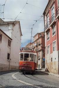 A Street Car in a Narrow Alley in Lisbon, Portugal Journal: Take Notes, Write Down Memories in This 150 Page Lined Journal