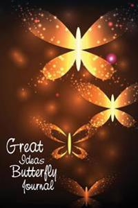 Great Ideas Butterfly Journal: Be Creative, Doodle and Write for Self-Discovery