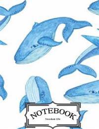 Notebook: Whale Painting: Notebook Journal Diary, 120 Lined Pages, 7 X 10