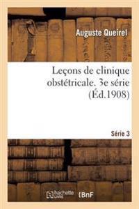 Le�ons de Clinique Obst�tricale