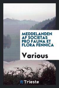 Meddelanden AF Societas Pro Fauna Et Flora Fennica