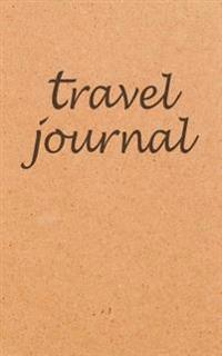 Kraft Travel Journal Calligraphy Travel Notebook Traveler's Journal 5x8
