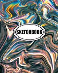 Sketchbook: Holographic: 120 Pages of 8 X 10 Blank Paper for Drawing, Doodling or Sketching (Sketchbook)